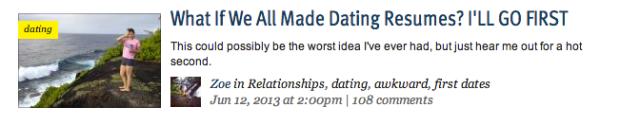 DatingResume